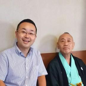 師匠と、上野鈴本演芸場楽屋にて 20150911